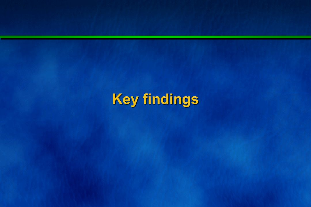 Overview of key findings (1) Completed responses from 22 / 28 schools (79%).
