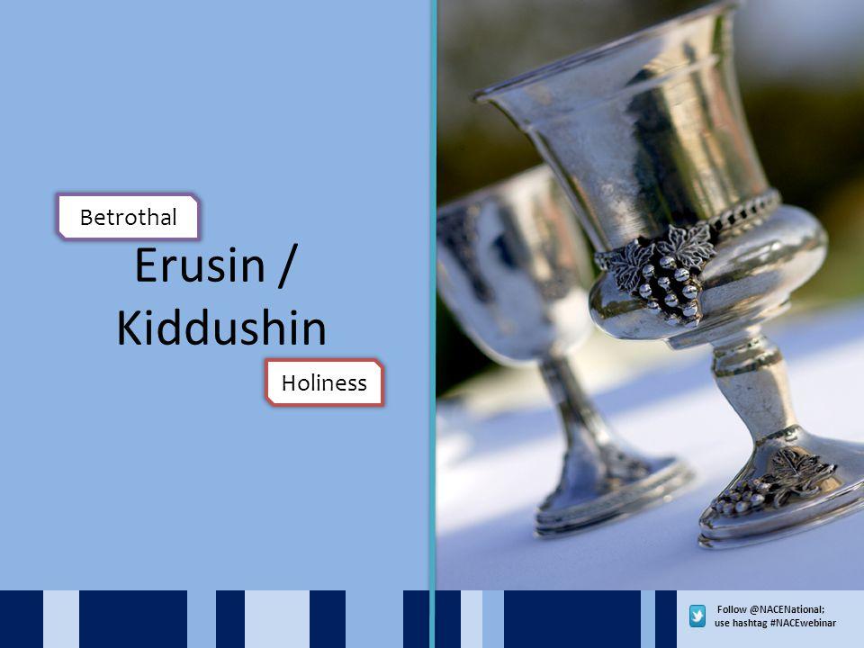 Follow @NACENational; use hashtag #NACEwebinar Erusin / Kiddushin Betrothal Holiness