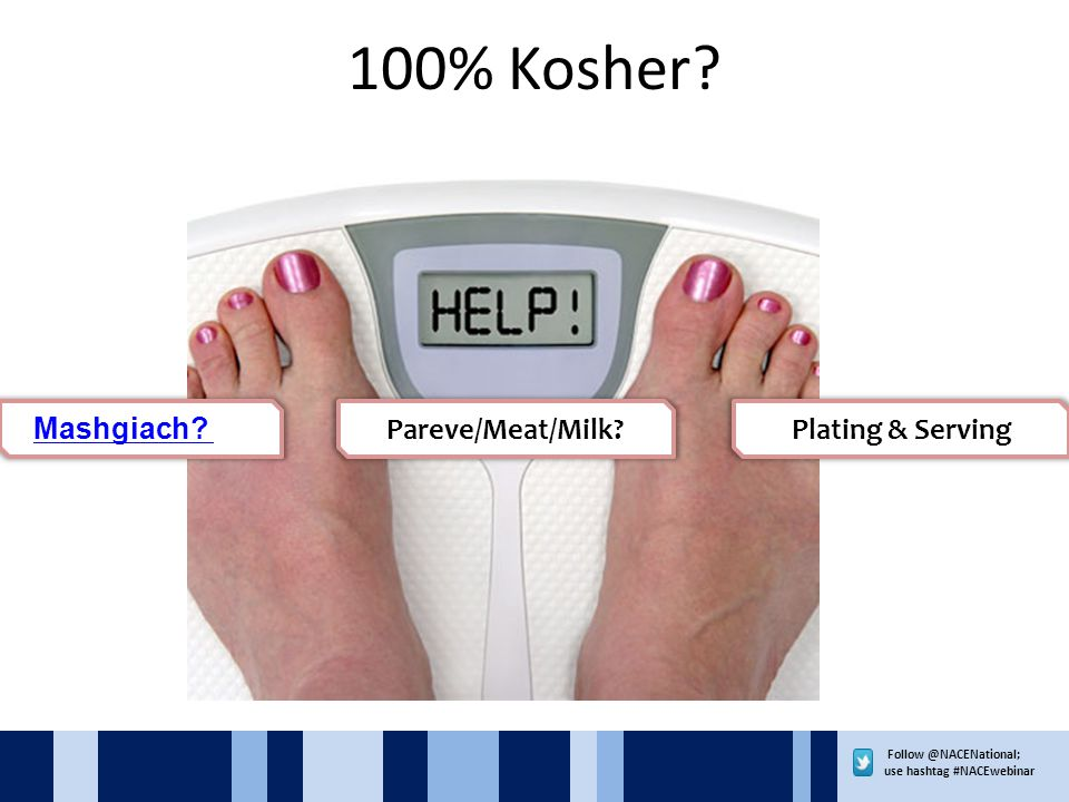 use hashtag #NACEwebinar 100% Kosher.
