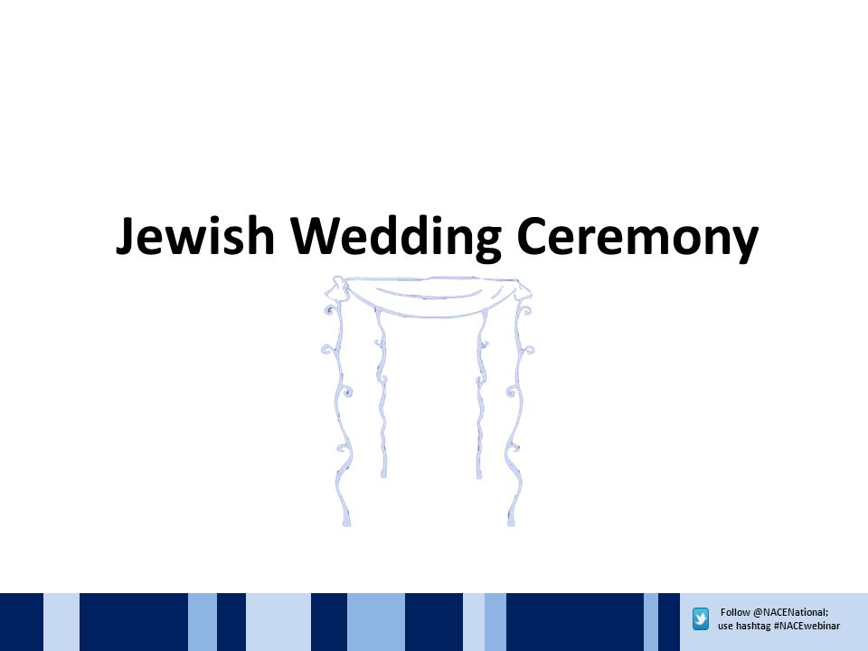 use hashtag #NACEwebinar Jewish Wedding Ceremony