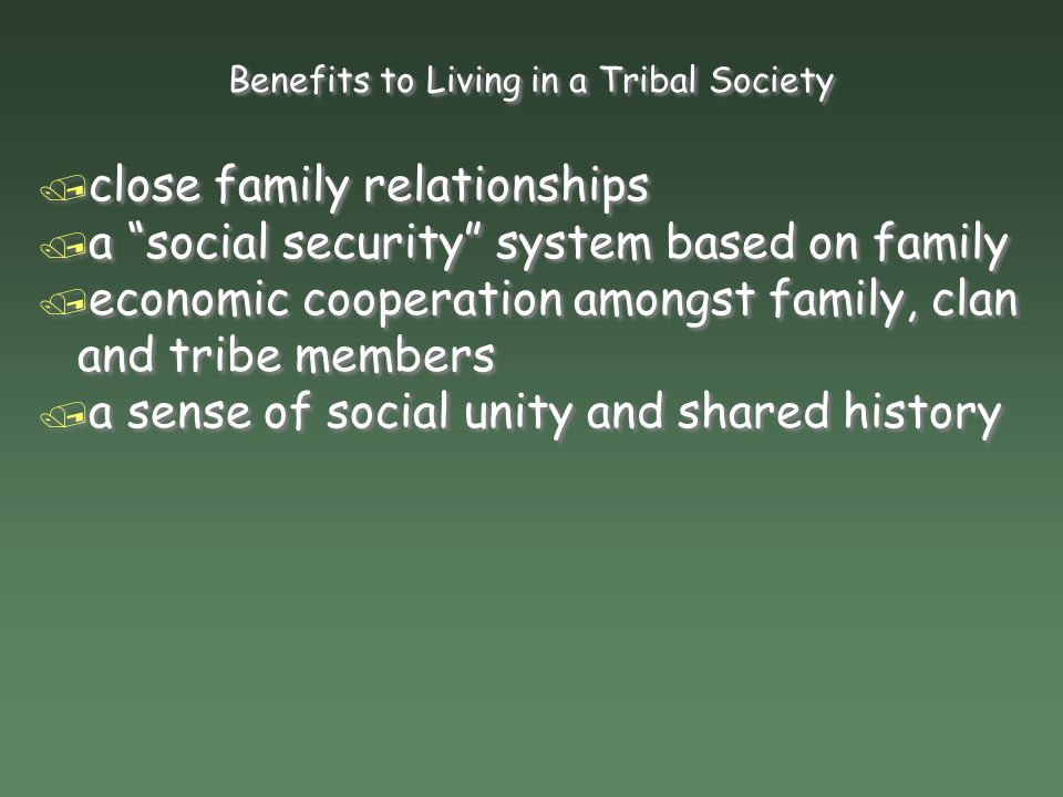 Traditional African Social Structure / Tribe: / a social group comprising numerous clans linked by marriage / Tribe: / a social group comprising numer