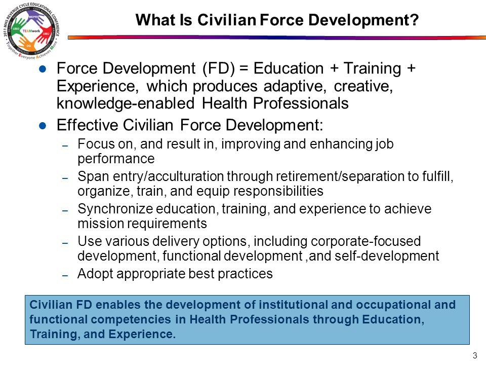 What Is Civilian Force Development.
