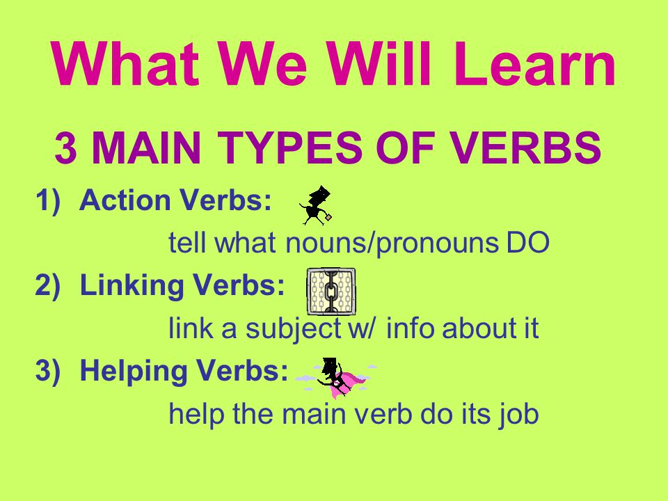 Can You Find the Verb. Find the word that tells you the action in the following sentences.