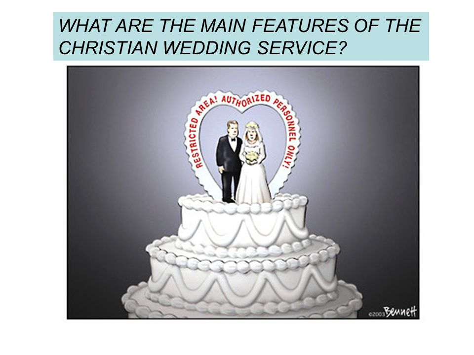 WHAT ARE THE MAIN FEATURES OF THE CHRISTIAN WEDDING SERVICE?
