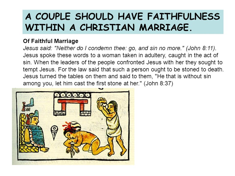 A COUPLE SHOULD HAVE FAITHFULNESS WITHIN A CHRISTIAN MARRIAGE.