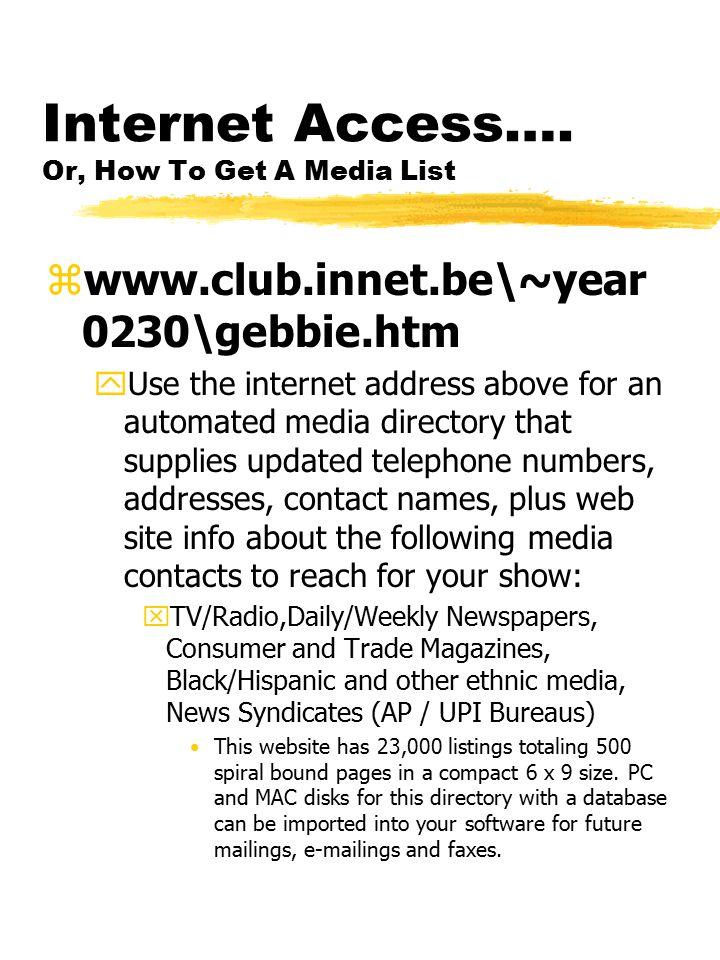 Internet Access….