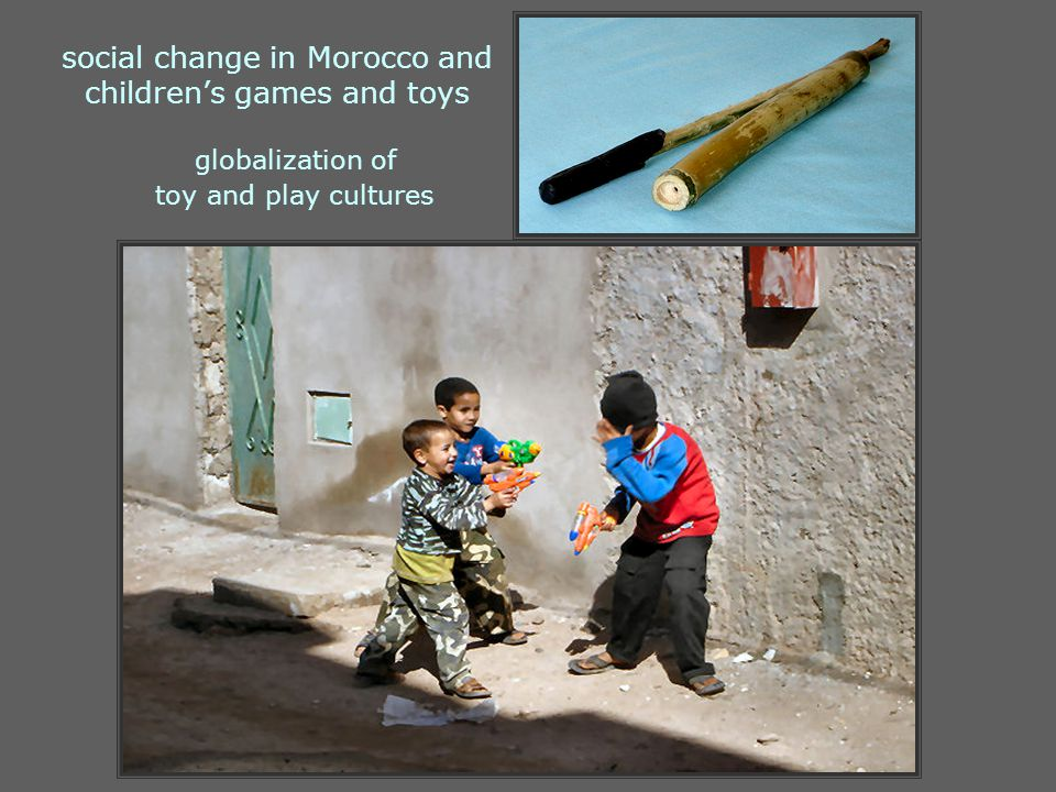 social change in Morocco and children's games and toys globalization of toy and play cultures