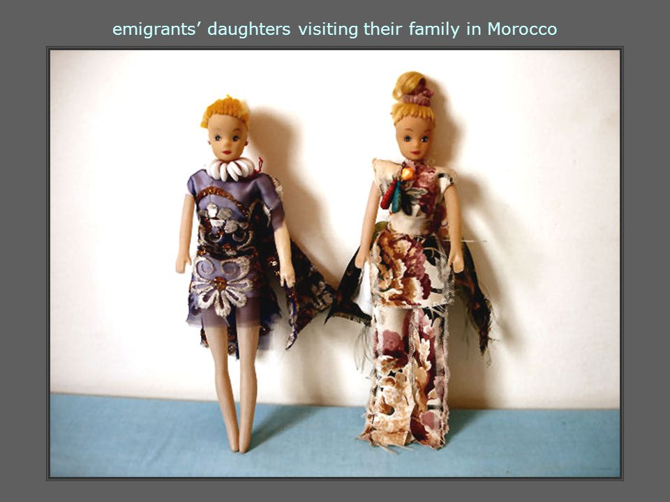 emigrants' daughters visiting their family in Morocco