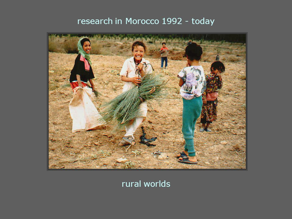 rural worlds research in Morocco 1992 - today