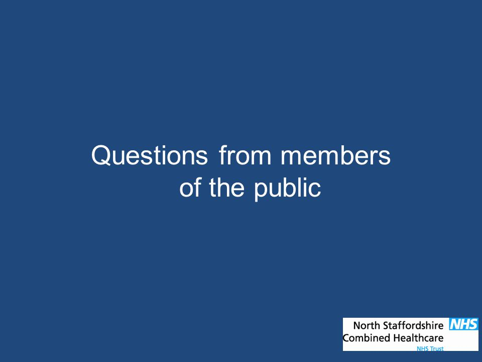 Questions from members of the public