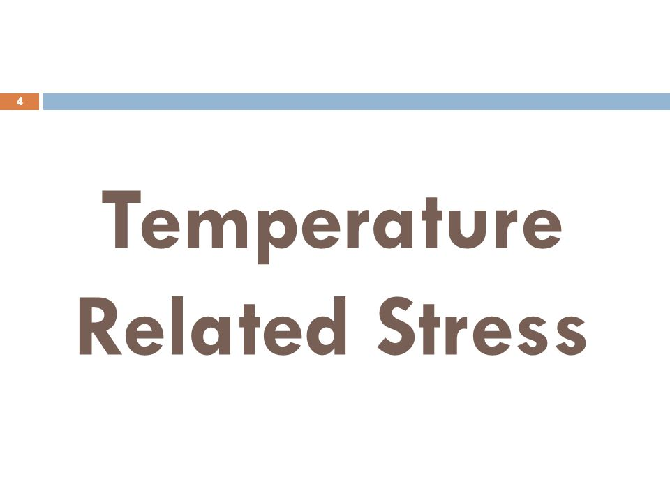 Temperature Related Stress 4