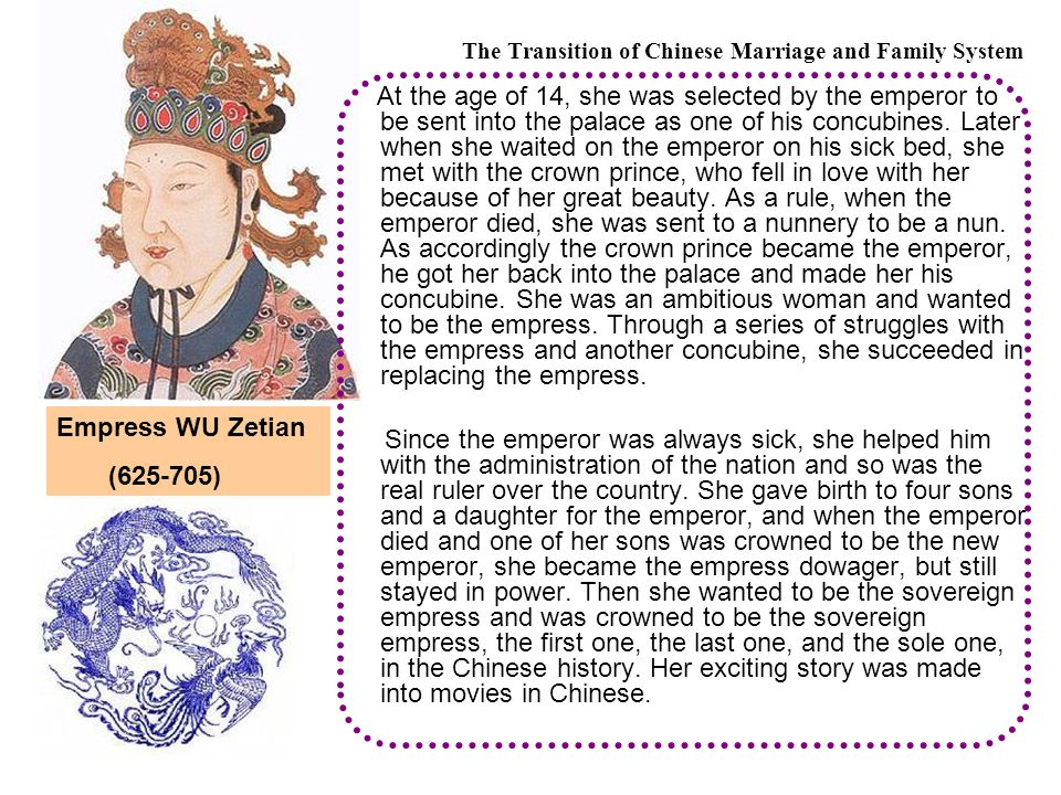 At the age of 14, she was selected by the emperor to be sent into the palace as one of his concubines.