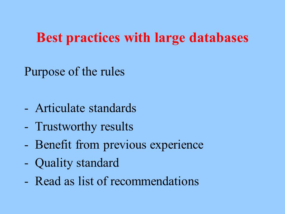 Best practices with large databases on historical populations Historical Methods 37 (2004), nr. 1, 34-38. History and Computing 13 (2001, published 20