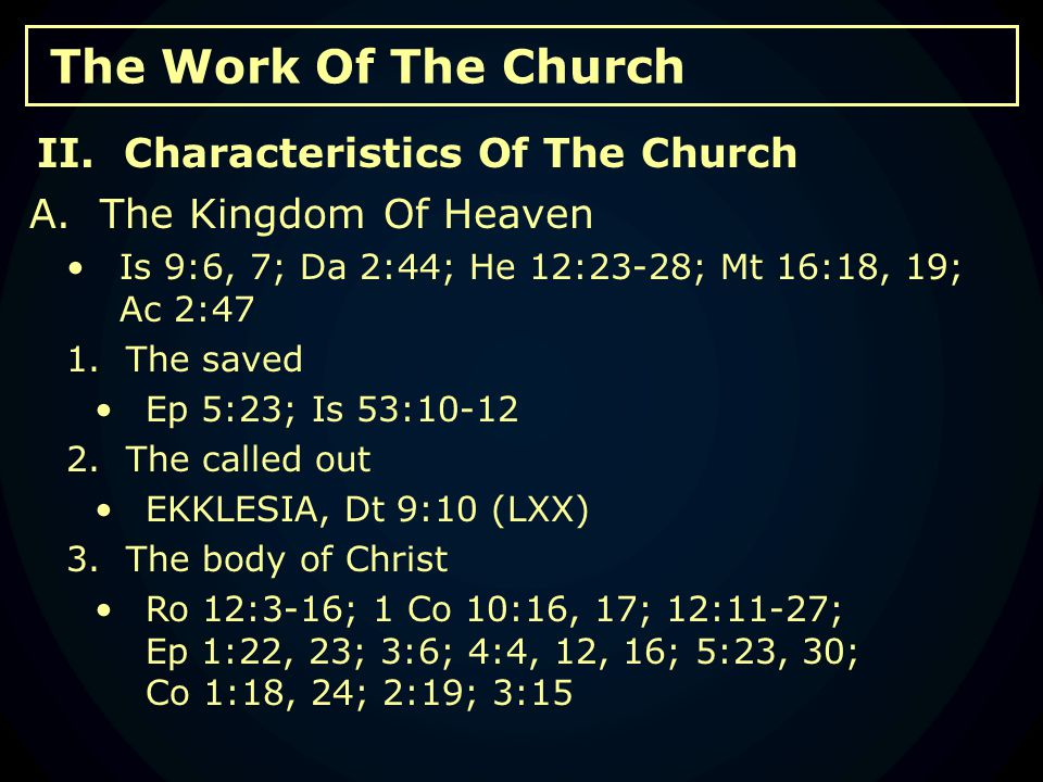 The Work Of The Church E.