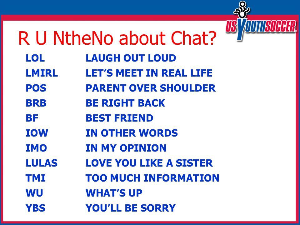 R U NtheNo about Chat.