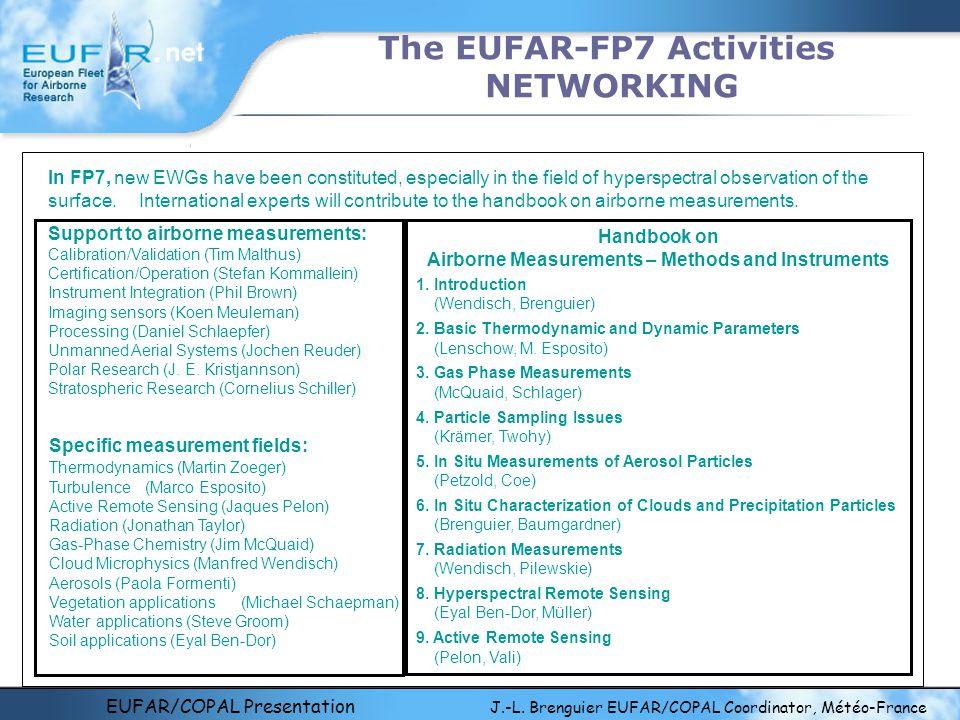 EUFAR/COPAL Presentation J.-L. Brenguier EUFAR/COPAL Coordinator, Météo-France The EUFAR-FP7 Activities NETWORKING Support to airborne measurements: C
