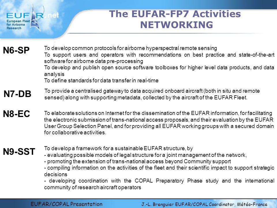 EUFAR/COPAL Presentation J.-L. Brenguier EUFAR/COPAL Coordinator, Météo-France The EUFAR-FP7 Activities NETWORKING To provide a centralised gateway to