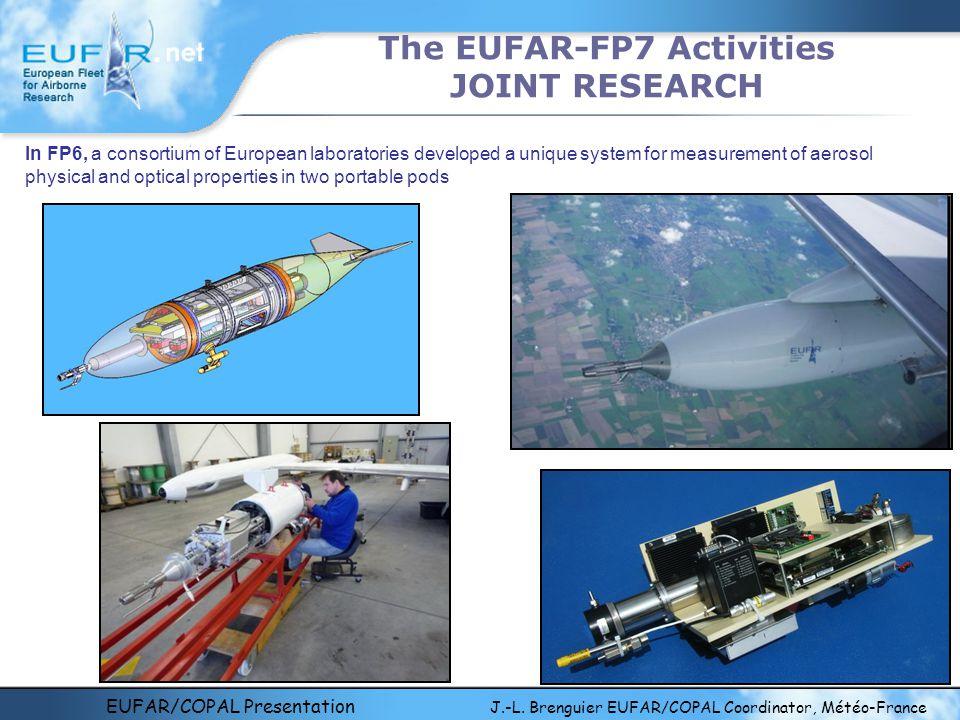EUFAR/COPAL Presentation J.-L. Brenguier EUFAR/COPAL Coordinator, Météo-France The EUFAR-FP7 Activities JOINT RESEARCH In FP6, a consortium of Europea