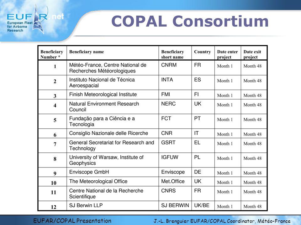 EUFAR/COPAL Presentation J.-L. Brenguier EUFAR/COPAL Coordinator, Météo-France COPAL Consortium