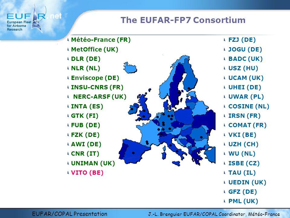 EUFAR/COPAL Presentation J.-L. Brenguier EUFAR/COPAL Coordinator, Météo-France The EUFAR-FP7 Consortium FZJ (DE) JOGU (DE) BADC (UK) USZ (HU) UCAM (UK