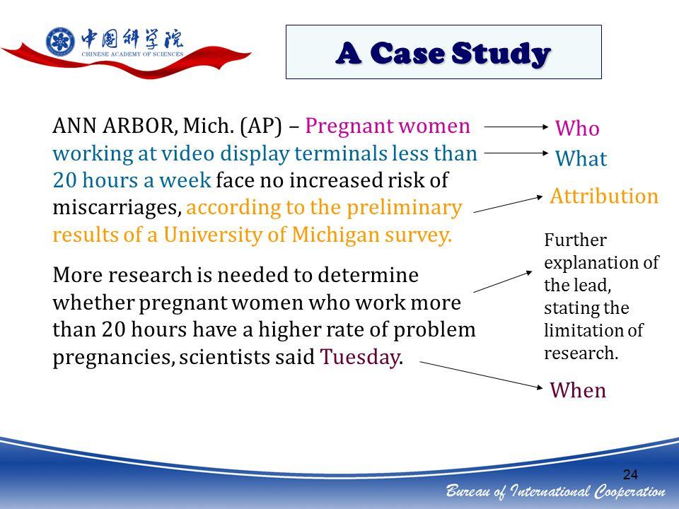 24 A Case Study ANN ARBOR, Mich.