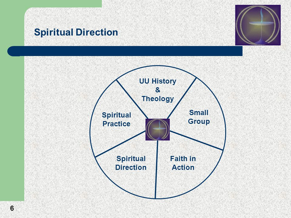 6 Spiritual Direction UU History & Theology Small Group Faith in Action Spiritual Direction Spiritual Practice