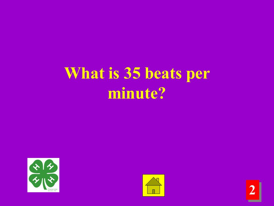 2 2 What is 35 beats per minute?