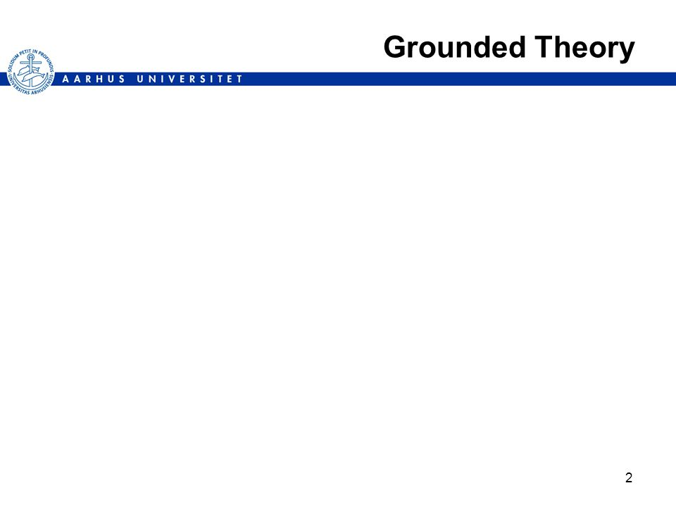 2 Grounded Theory