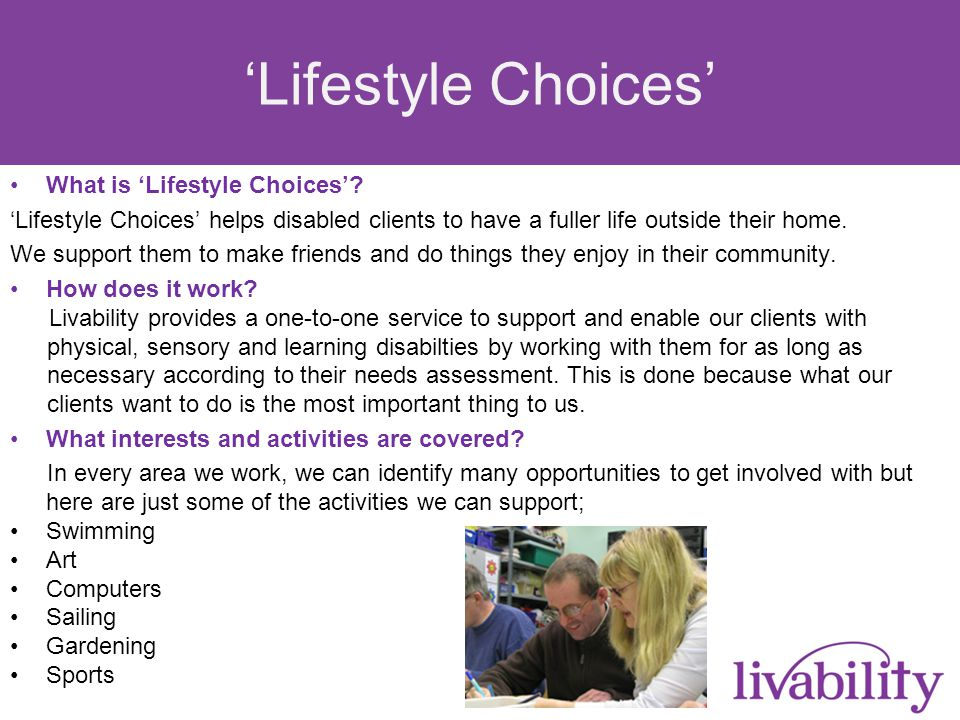 Background Personalised Budgets Reduction in residential services / Daycentre provision Increase in Supported Living / Home Care The Challenges Isolationism Victimisation Community Relations Lack of Opportunities Lack of regulation / Scrutiny from unregulated providers The Solution Community Based Individualised Personal Support Outcomes monitored Flexible 'Lifestyle Choices'