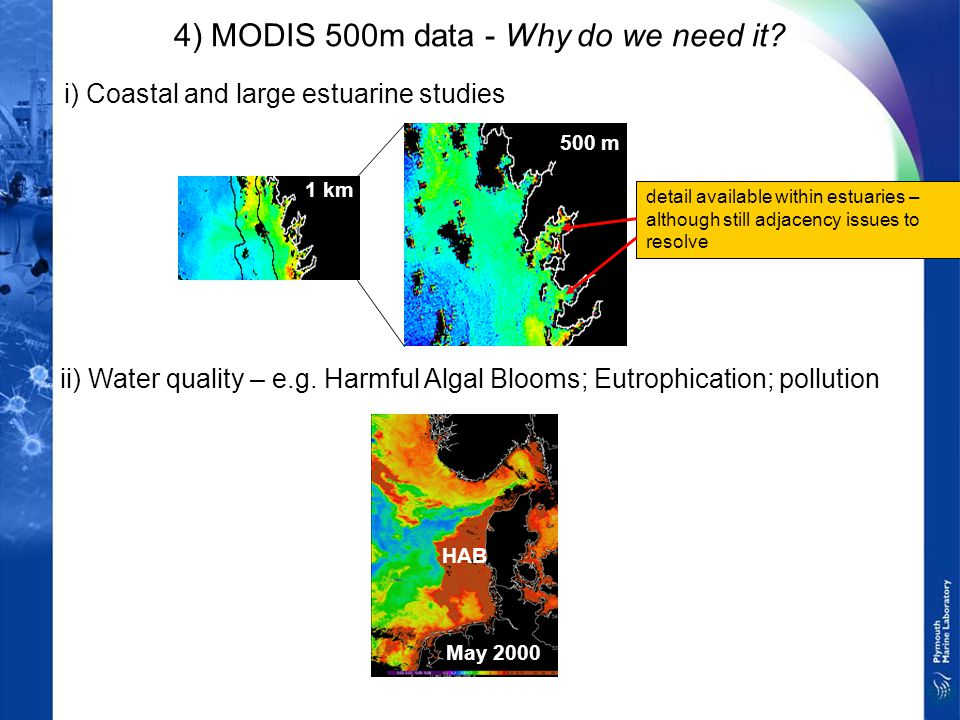 4) MODIS 500m data - Why do we need it.