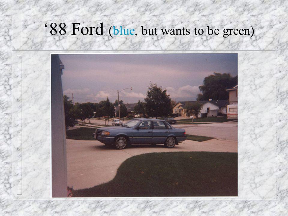 1988 - New Car!