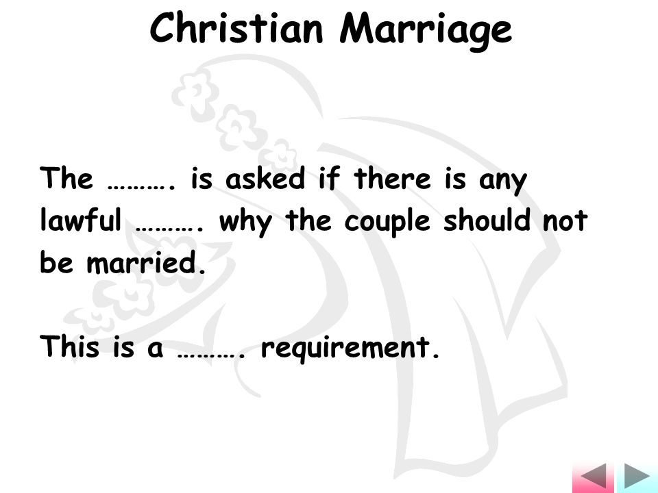 The ………. is asked if there is any lawful ………. why the couple should not be married.