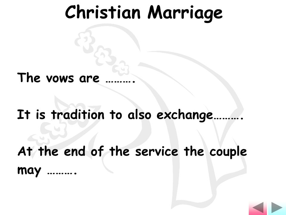 The vows are ………. It is tradition to also exchange……….
