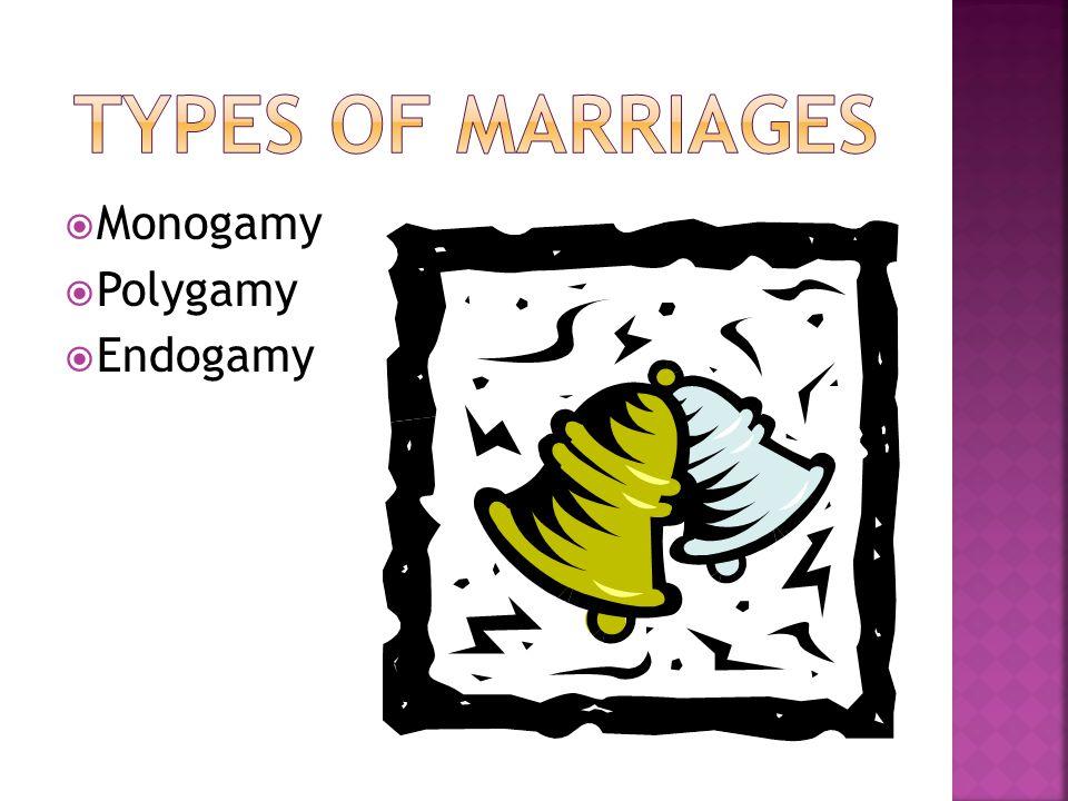  Monogamy  Polygamy  Endogamy