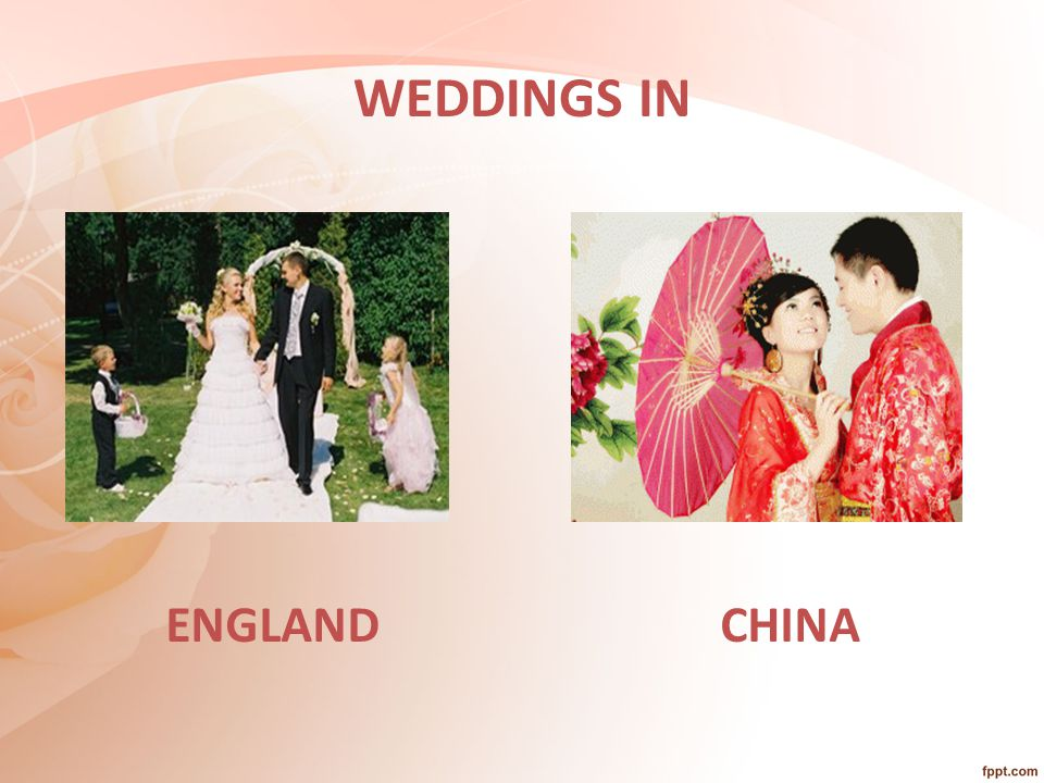 WEDDINGS IN CHINAENGLAND