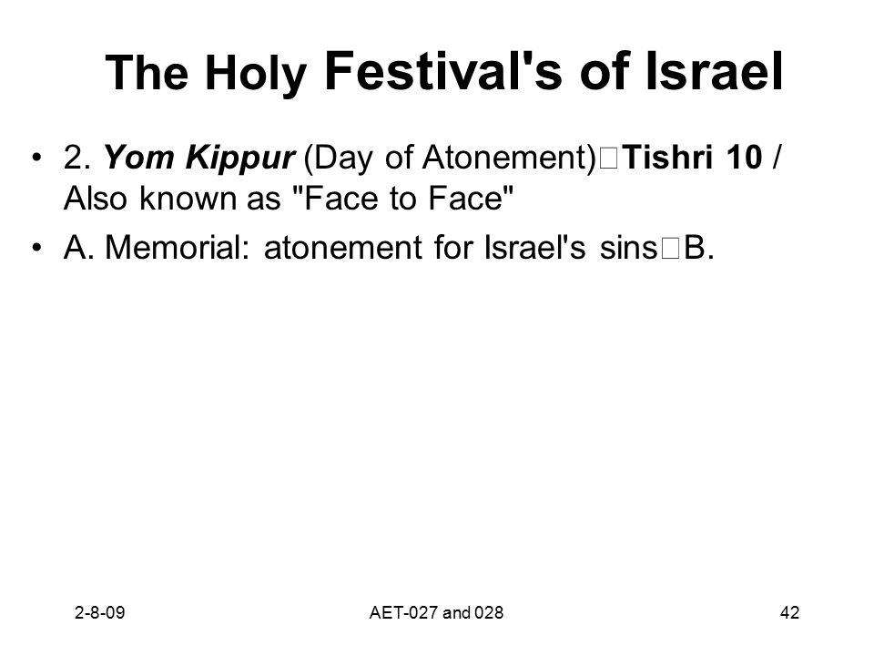 The Holy Festival s of Israel 2.