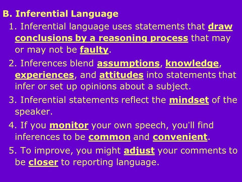 B. Inferential Language 1.