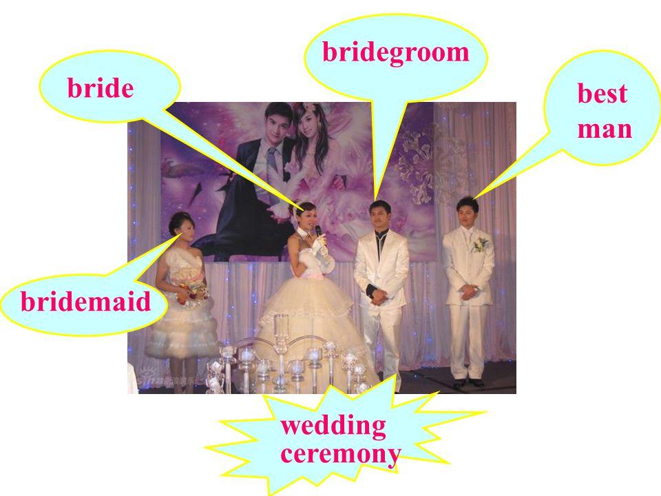 wedding ceremony bride bridegroom best man bridemaid