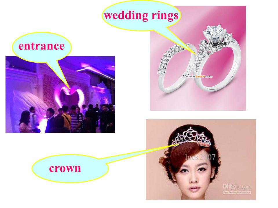 entrance crown wedding rings