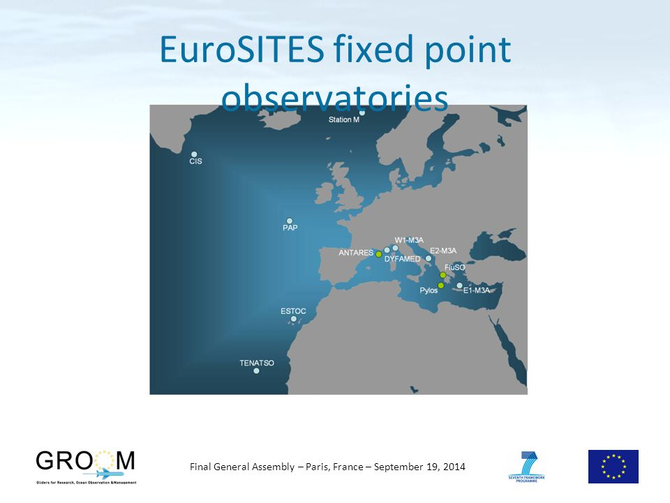 Final General Assembly – Paris, France – September 19, 2014 EuroSITES fixed point observatories