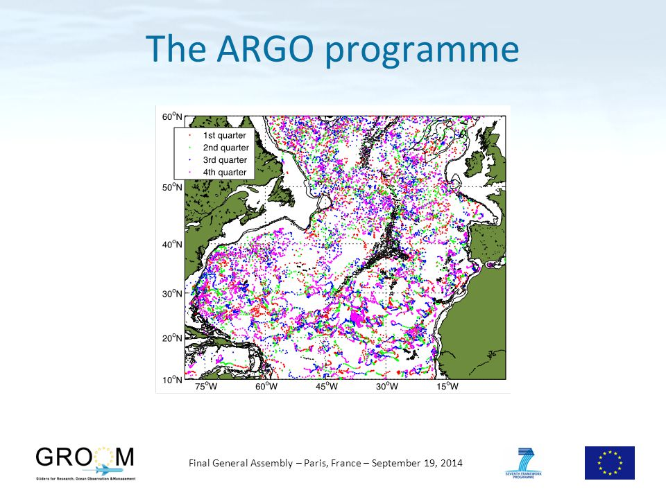 Final General Assembly – Paris, France – September 19, 2014 The ARGO programme