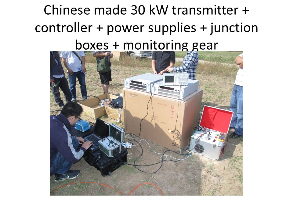 Chinese made 30 kW transmitter + controller + power supplies + junction boxes + monitoring gear