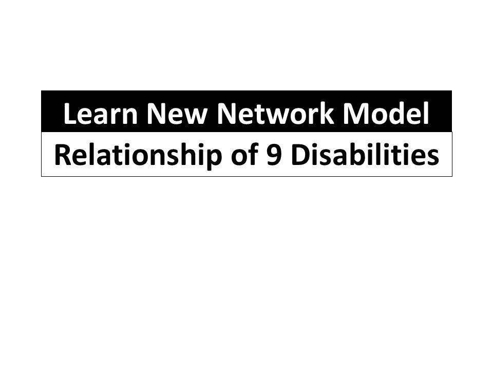 Learn New Network Model Relationship of 9 Disabilities
