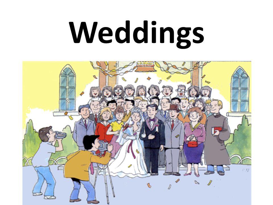 Vocabulary Best man Honeymoon Speeches Bride Guests The Big Day Bridegroom Reception Bridesmaids Stag party Hen's night Bridal Shower