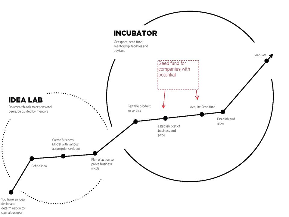 The life cycle of Entrepreneurship Development, Firm Creation and Funding Stages