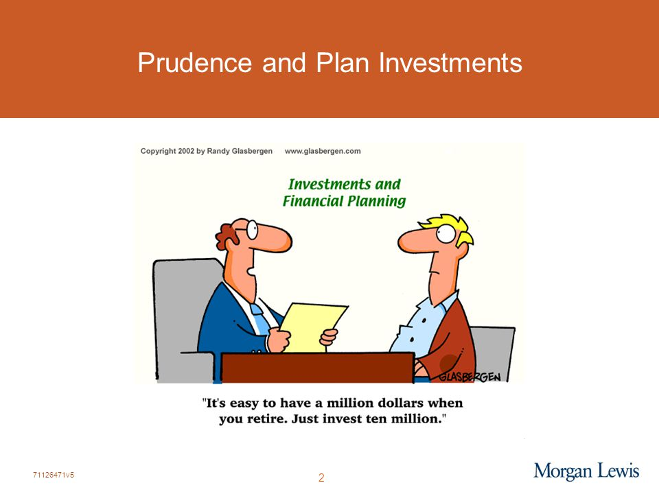 71126471v5 2 Prudence and Plan Investments