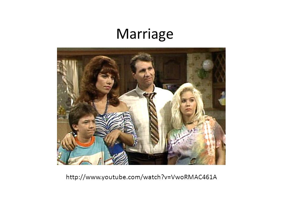 Marriage http://www.youtube.com/watch?v=VwoRMAC461A