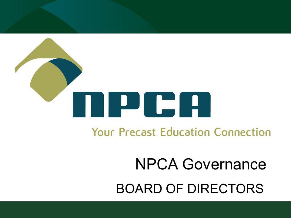 NPCA Governance BOARD OF DIRECTORS