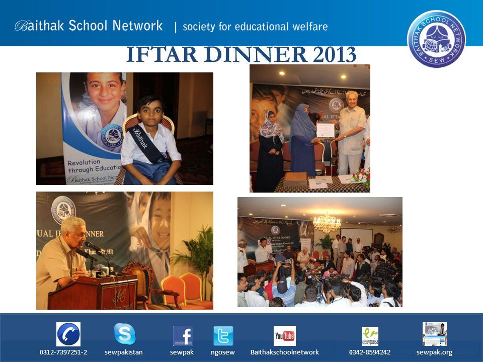 IFTAR DINNER 2013 0312-7397251-2 sewpakistan sewpak ngosew Baithakschoolnetwork 0342-8594242 sewpak.org