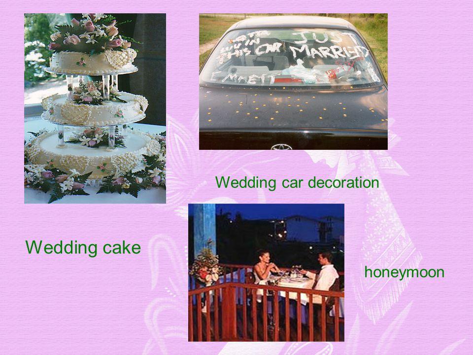 Wedding cake Wedding car decoration honeymoon
